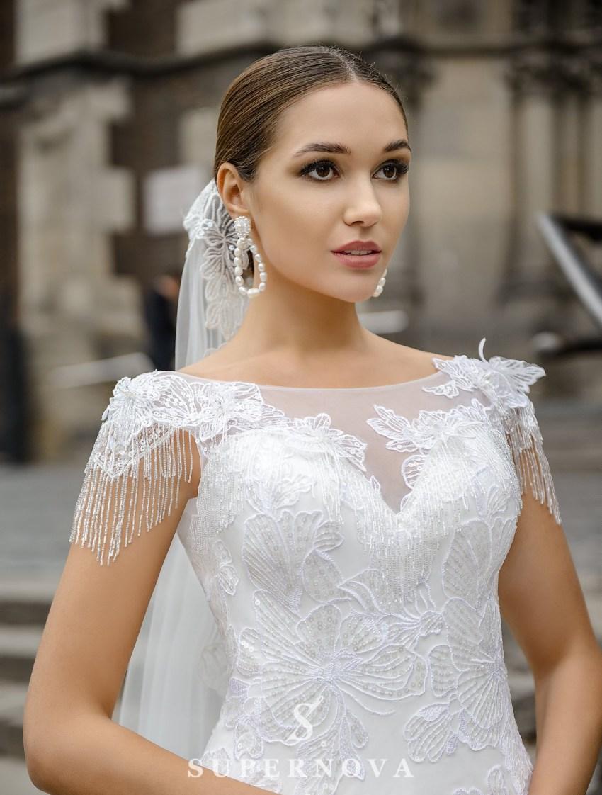 Wedding dress in godet style on a yoke on wholesale from SuperNova-3