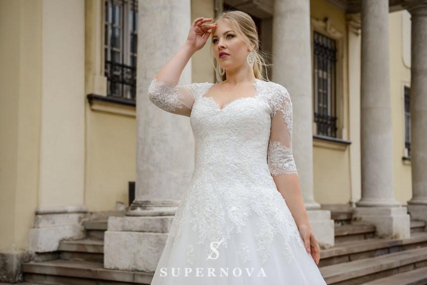 Свадебное платье с удлиненным корсетом больших размеров от производителя SuperNova-2