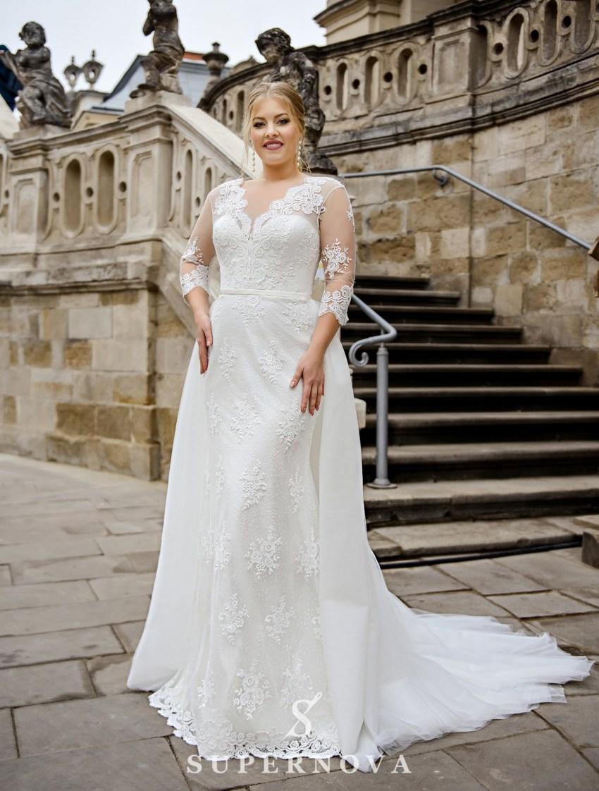 Свадебное платье трансформер больших размеров оптом от производителя SuperNova-2