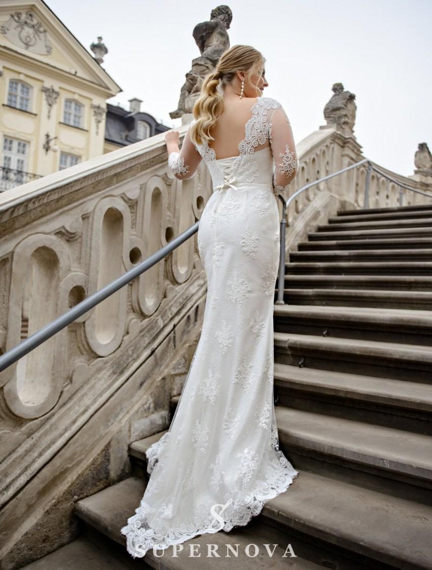 Свадебное платье трансформер больших размеров оптом от производителя SuperNova-3