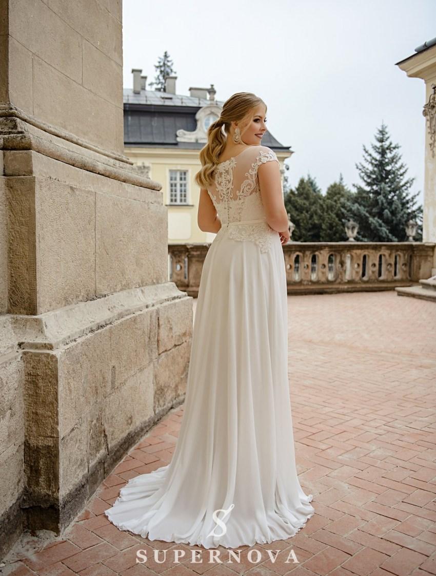Straight plus size wedding dress wholesale from SuperNova-3