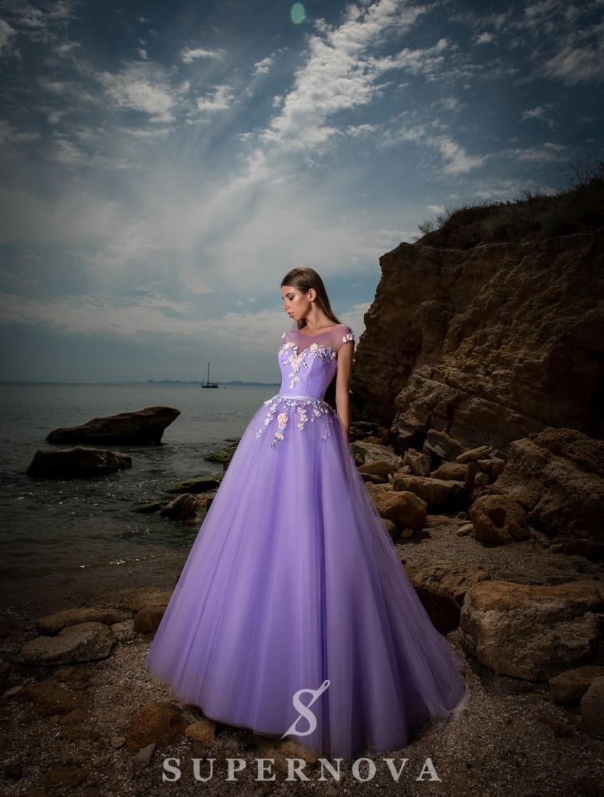 Evening dress based on yoke-3