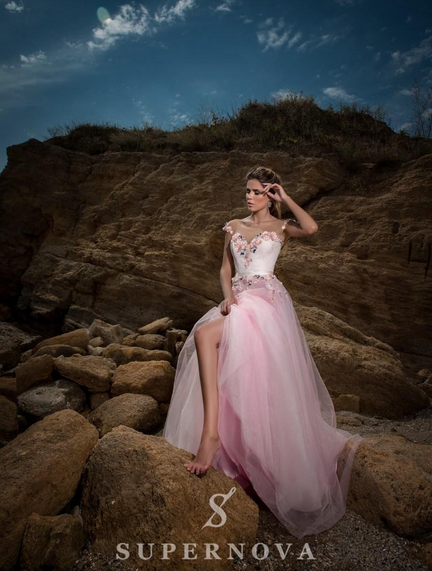 Evening dress based on yoke-4
