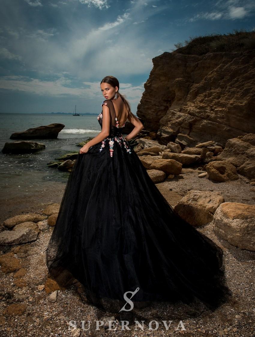 Evening dress based on yoke-5