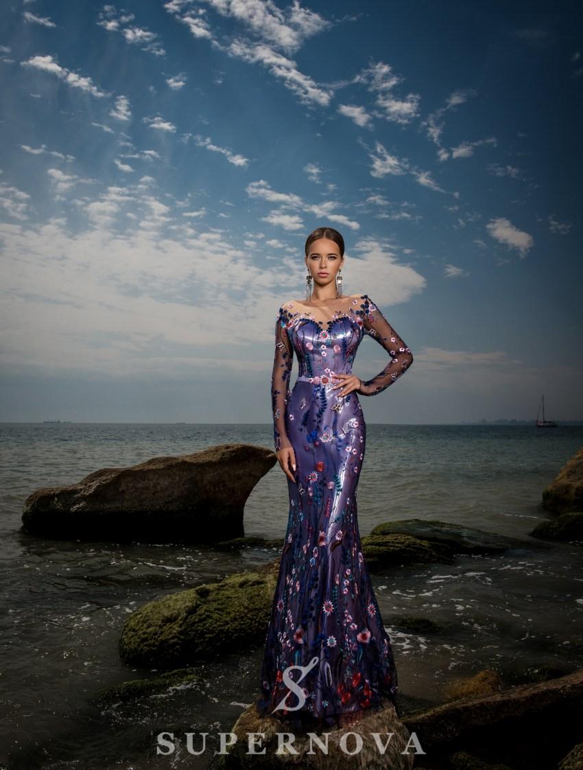 """Mermaid"" style evening dress-2"