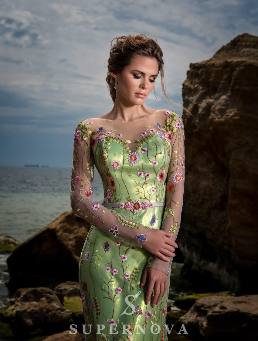 """Mermaid"" style evening dress-3"