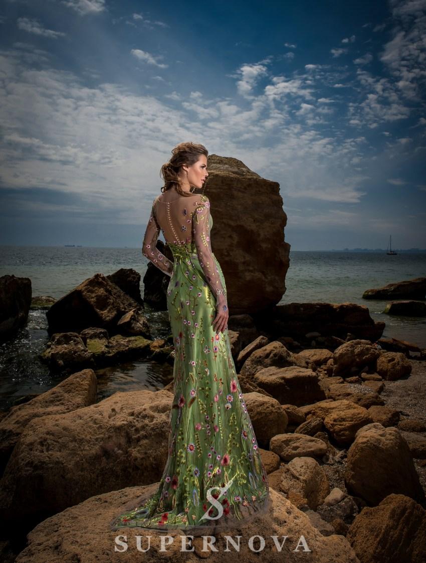"""Mermaid"" style evening dress-4"