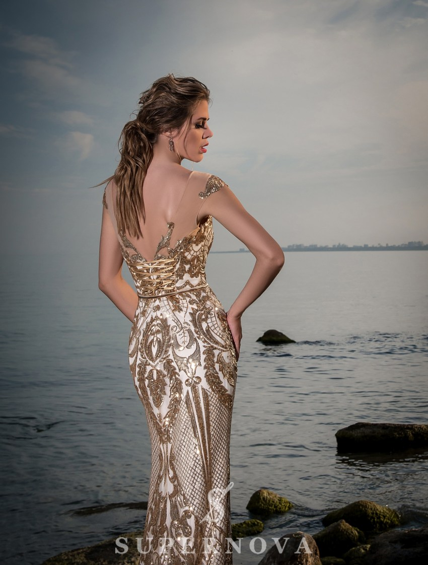 Evening dress with train-5