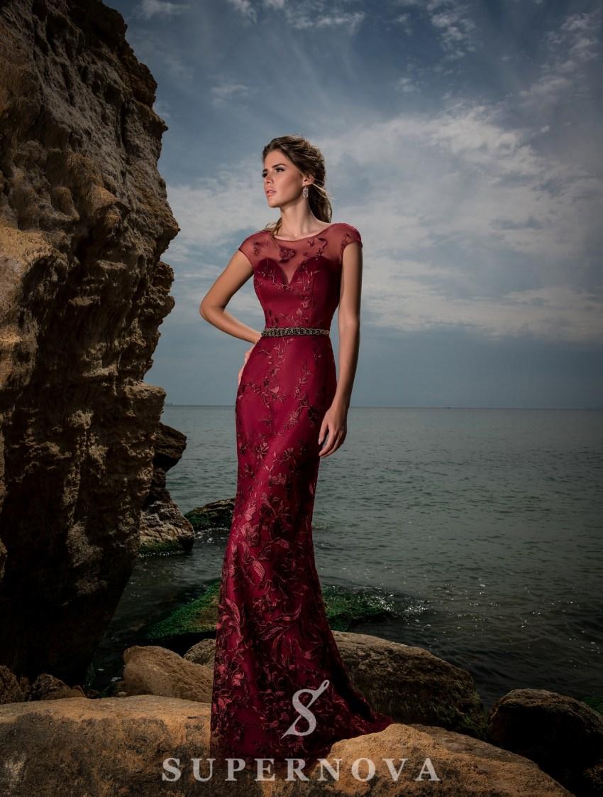 Вечернее гипюровое платье-2