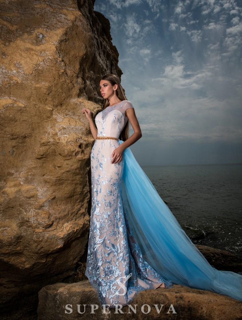 Вечернее гипюровое платье-3