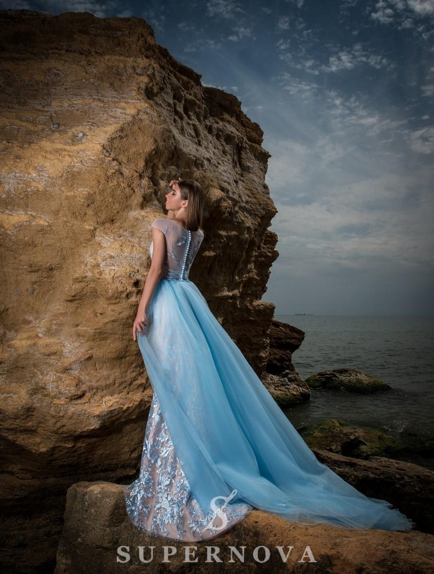 Вечернее гипюровое платье-4
