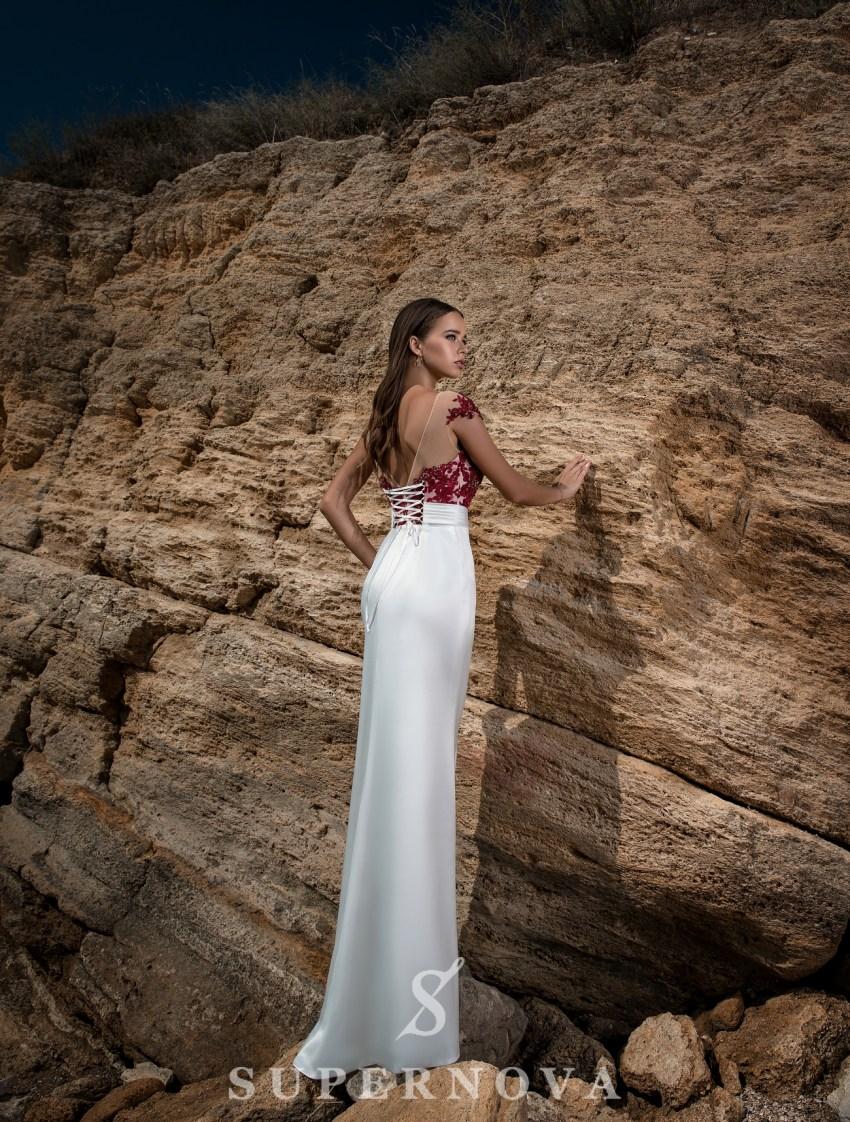 Evening dress with skirt-train-4