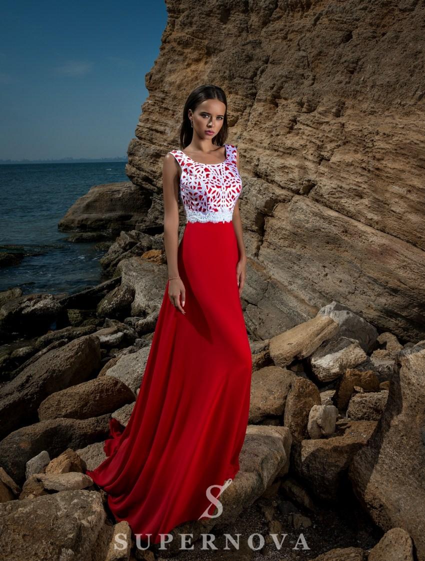 Вечернее платье с закрытыми плечами-2