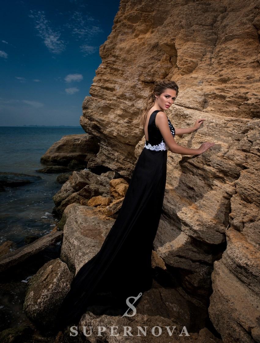 Вечернее платье с закрытыми плечами-4