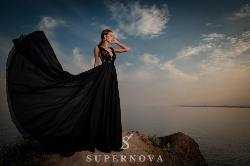 Вечернее платье с мягким лифом-2