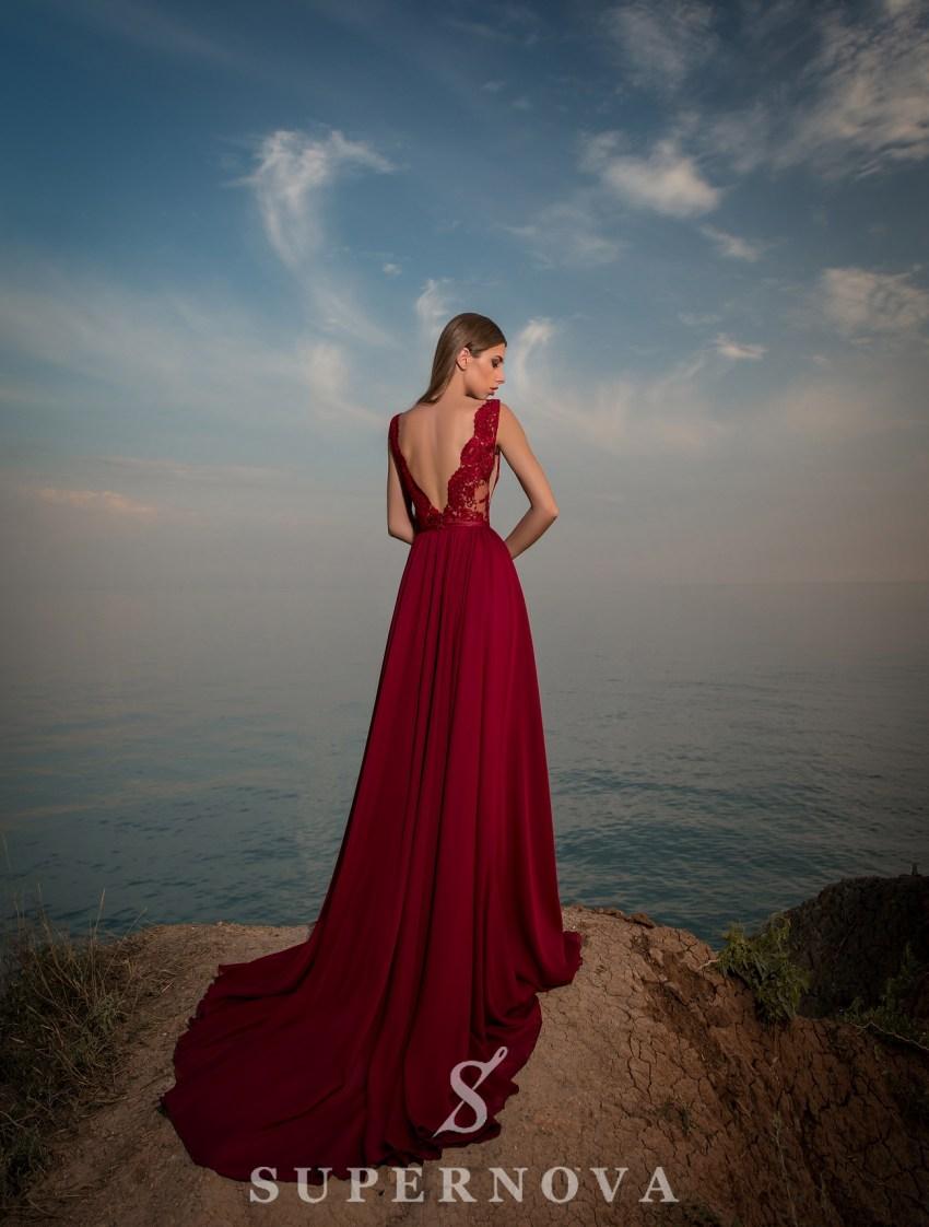 Evening dress with soft bra-3