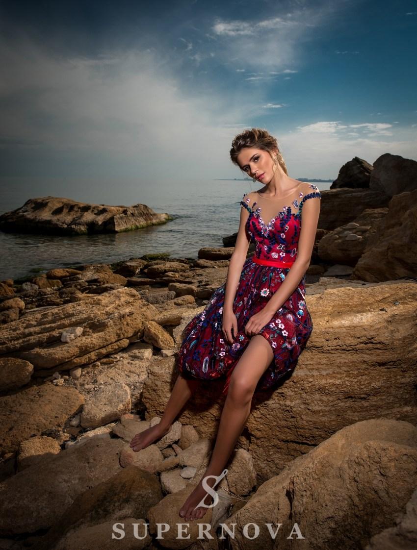 Вечернее платье длины «миди»-4