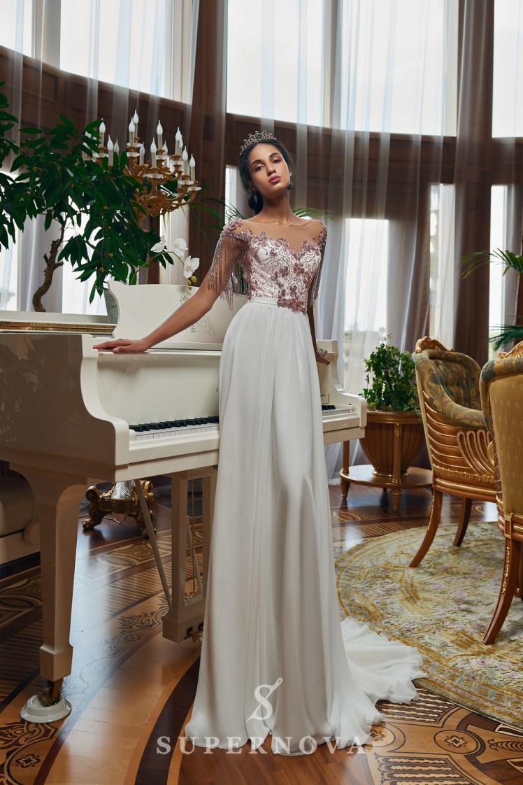 Вечернее платье с бисерными нитями оптом от SuperNova.-2