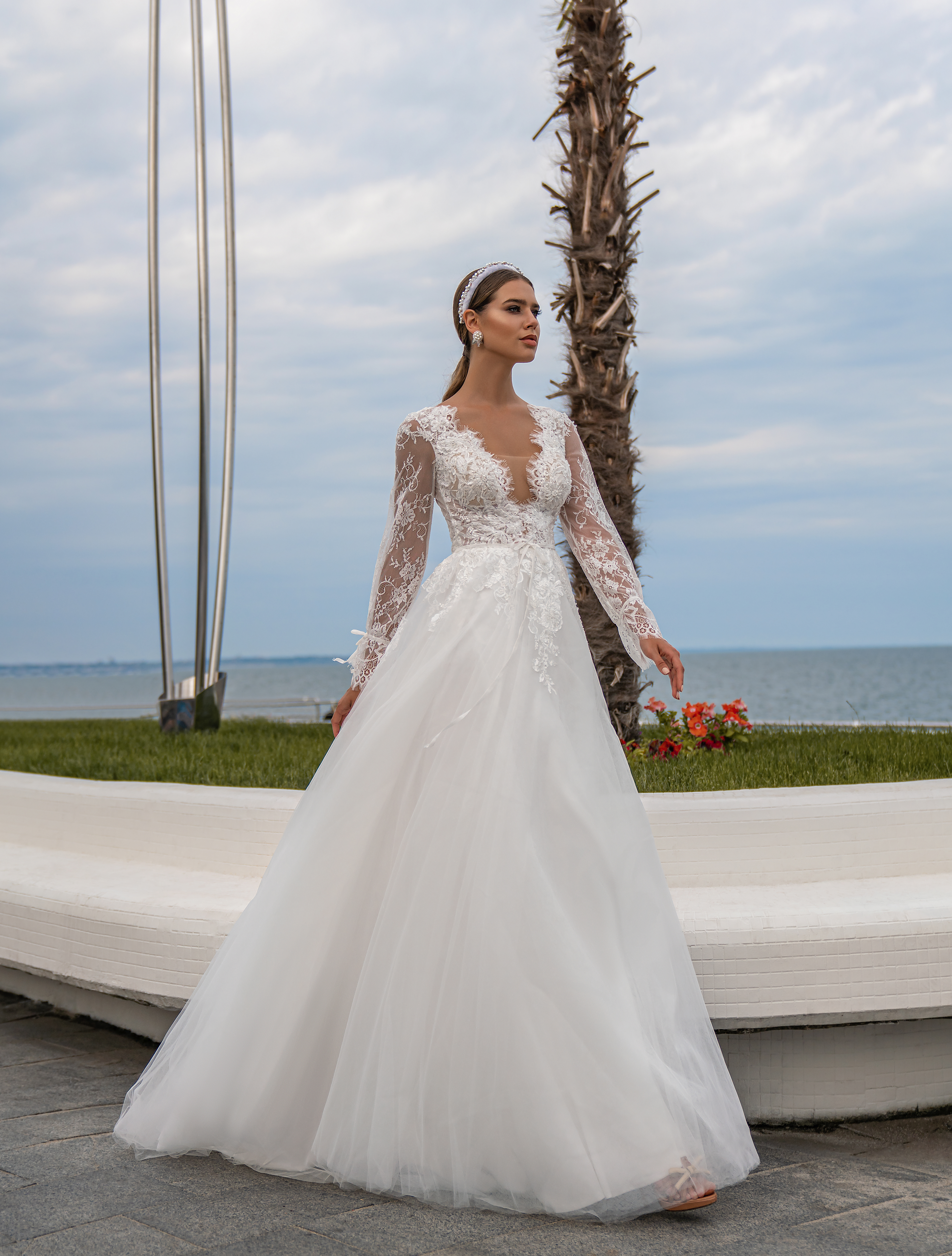 Wedding dress with long sleeves wholesale from Supernova-1