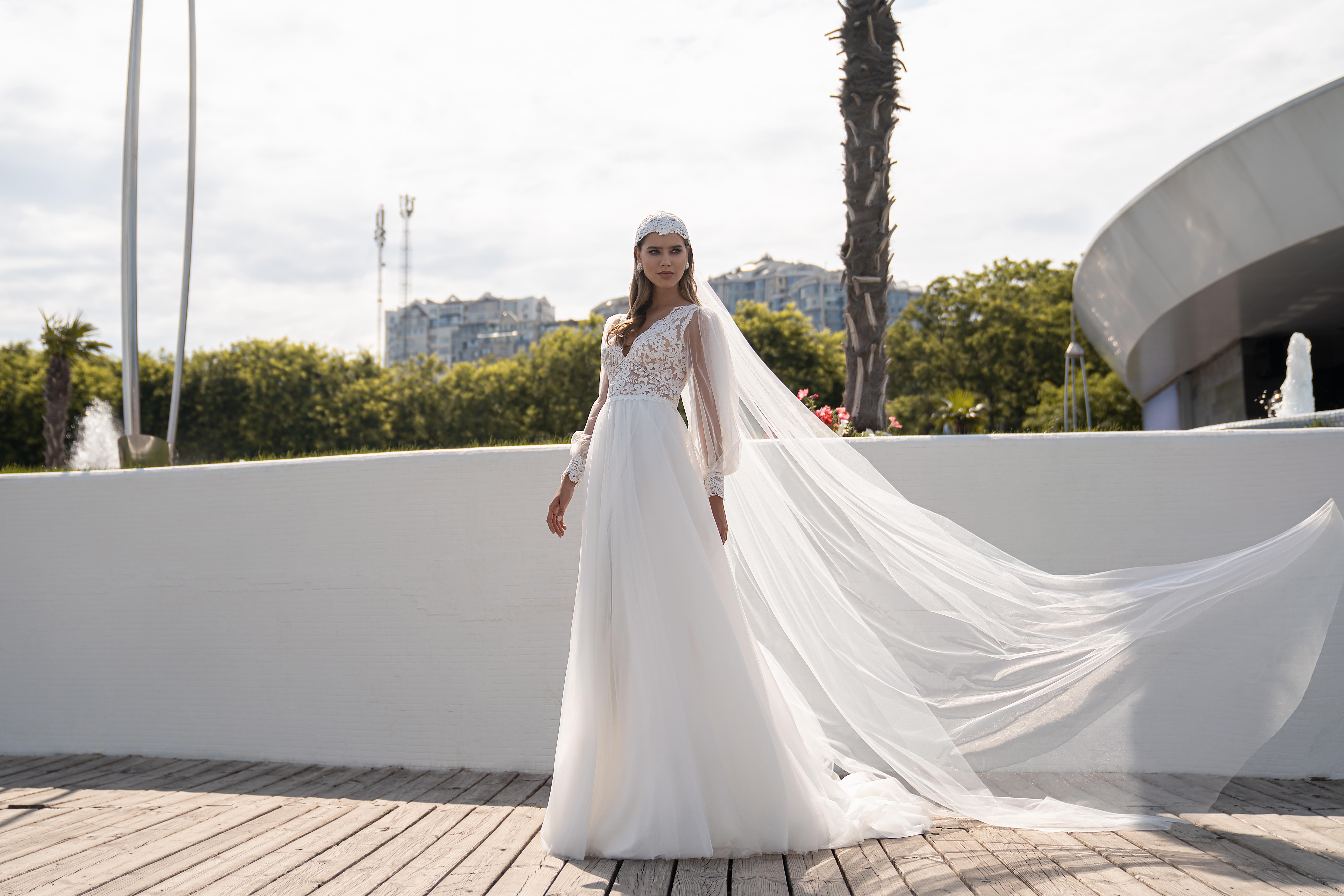 Модная свадебная фата