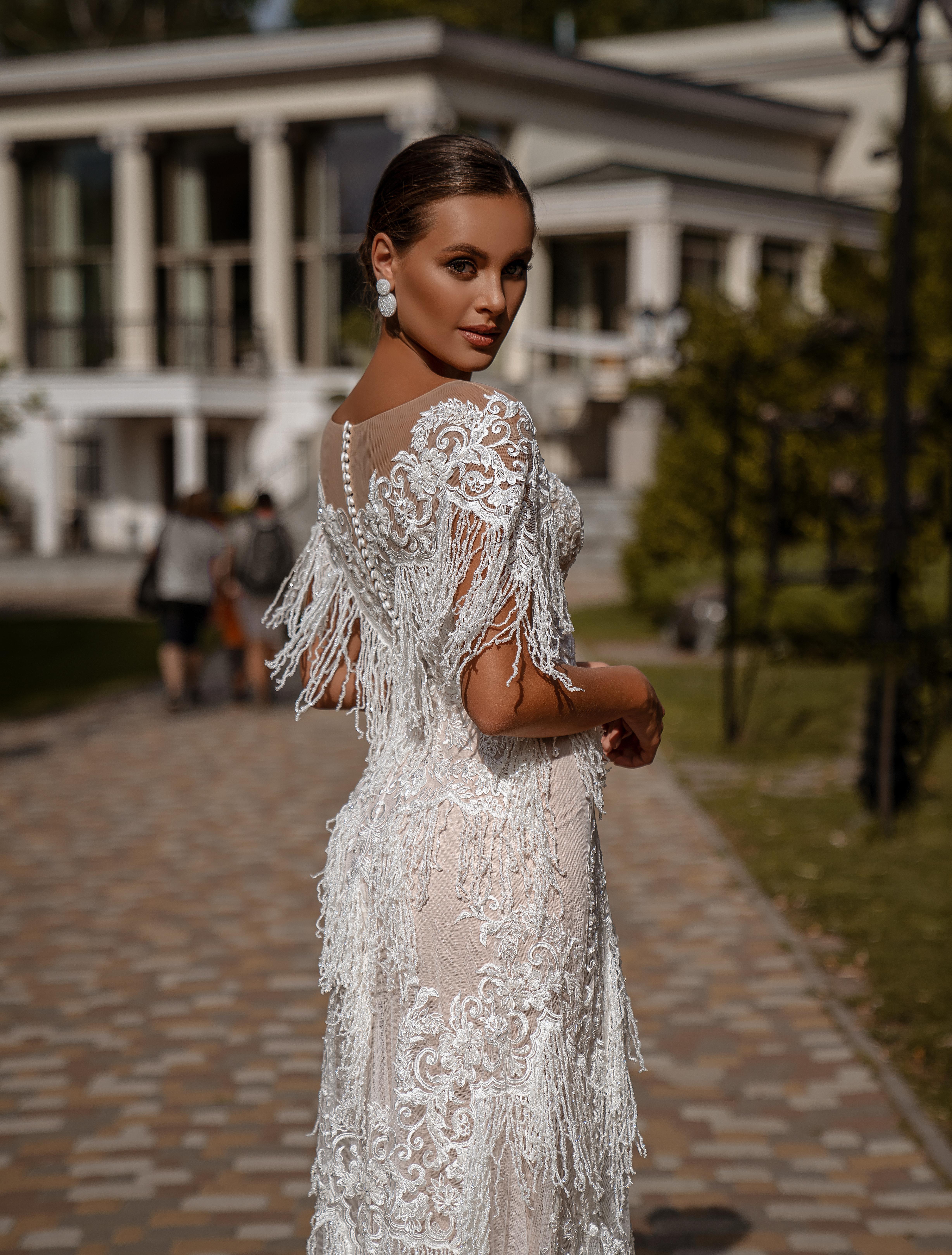 Rochie de mireasă A-siluetă-1