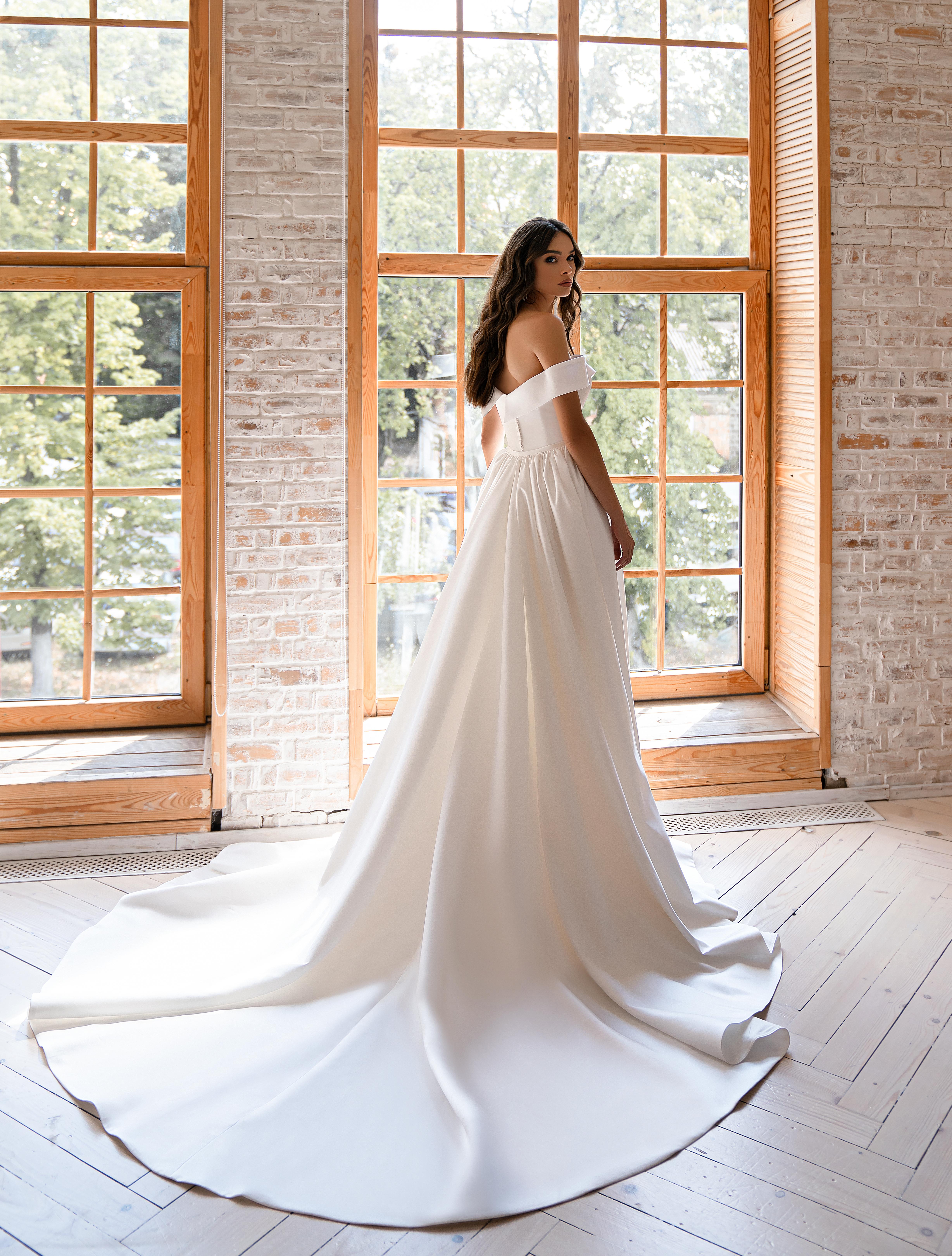 Свадебное платье минимализм-1
