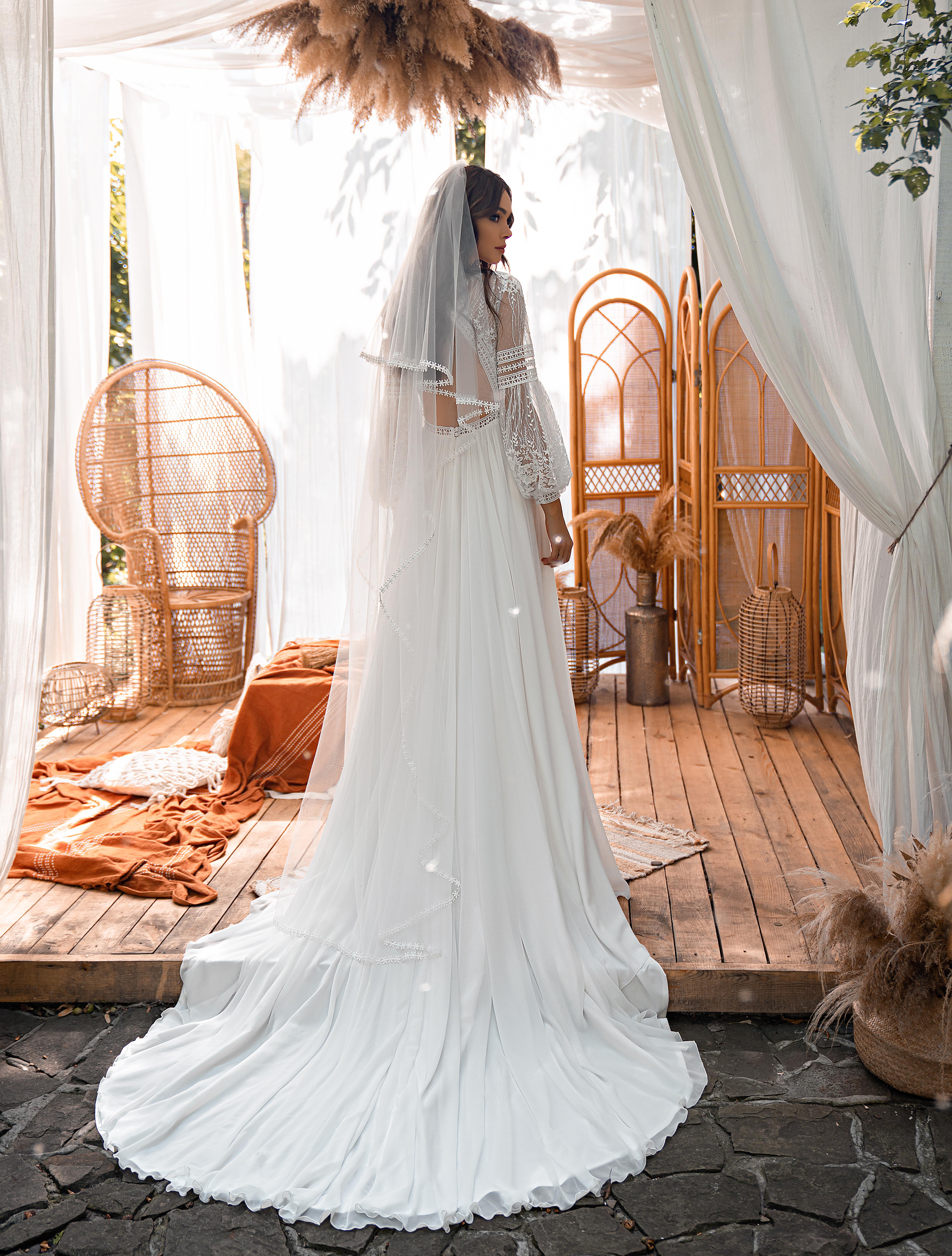Boho style wedding dress-1