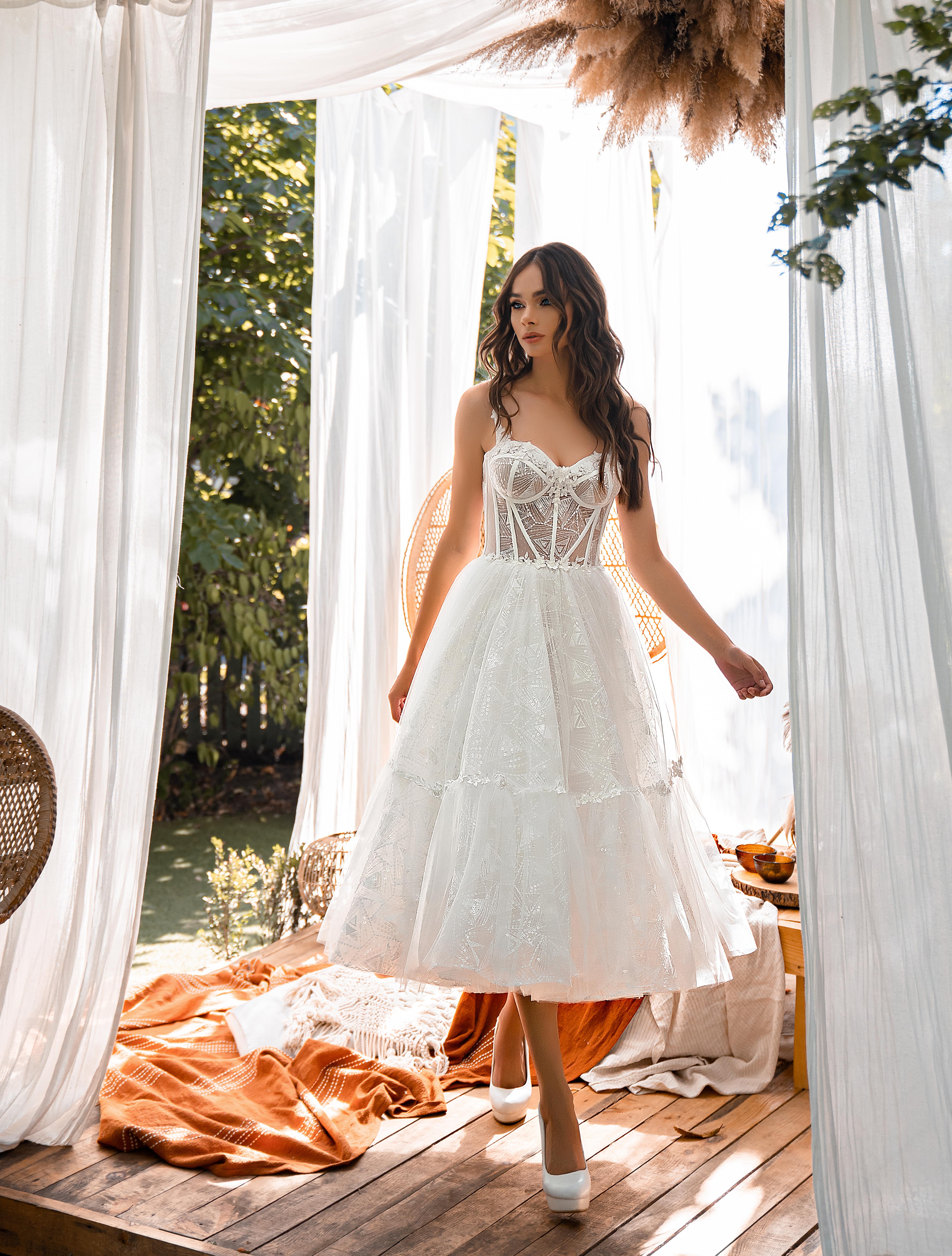 Весільна сукня міді-1