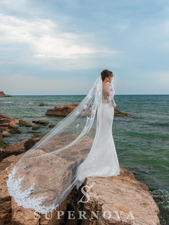 Beaded garment veil-1