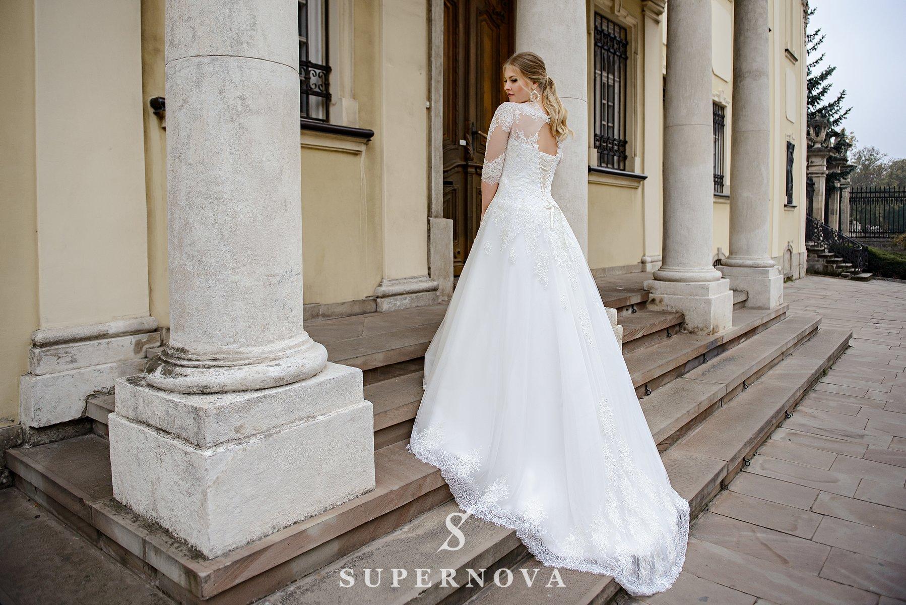 Свадебное платье с удлиненным корсетом больших размеров от производителя SuperNova-1